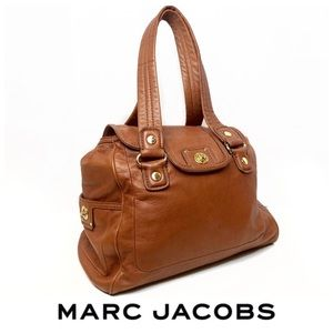 Marc Jacobs Large Camel Leather Oversized Handbag